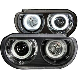 121308 Anzo Headlight Lamp Driver And Passenger Side New Coupe Lh Rh For Dodge