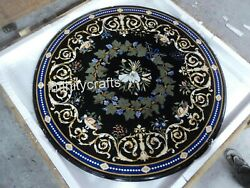 Marble Dining Table Top Semi Precious Gemstones Inlaid Kitchen Table 50 Inches