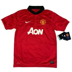 2013-14 Manchester United Youth Large Nike Fit Soccer Jersey Red New With Tags