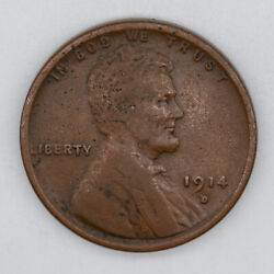 1914 D Lincoln Wheat Cent Penny 1c Vf Very Fine 3258
