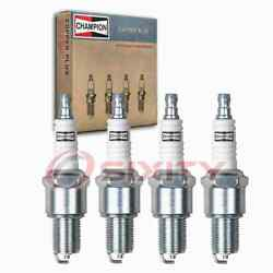 4 Pc Champion Intake Side Copper Plus Spark Plugs For 1981-1986 Nissan 720 Tf