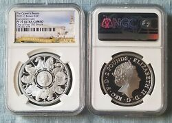 2021 £2 Uk Queen's Beasts Completer 1oz Silver Ngc Pf70 One Of First 150 Struck