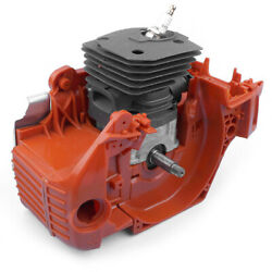 44mm For Husqvarna 350 340 345 Chainsaw Crankcase Piston Cylinder Motor Assembly