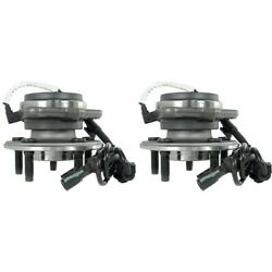 Set-tmsp450200 Timken Set Of 2 Wheel Hubs Front Driver And Passenger Side New Pair