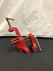 Vintage Sears 391-5247 Bench Vise Cast Iron Vice Red