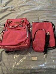 Diaper Bag Baby Backpack with Changing Pad Insulated Cooler Stroller Straps $24.99