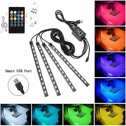 48 Led Strip Light With Remote Control For Cars Auto Interior Multicolor Lights