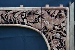 Large Antique Chinese Wooden Carved Panel / Architectural Archway