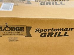 🔥 Lodge Sportsman's • Cast Iron Grill Bbq Outdoors Portable • Made In Usa • New