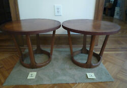 2 Lane Round Drum End Side Tables - Rhythm Collection - Local Pickup Dc Only