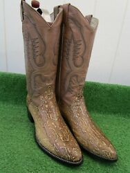 Vintage Larry Mahans Boa Constrictor Snake 'rare Exotic Western Boots 9.5 D