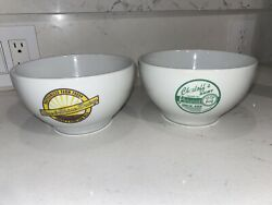 Pottery Barn Milk Cereal Bowls Rise And Shine Dairy Chesloffs Dairy Collectible