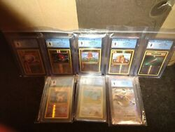 Pokémon Xy Evolutions Cgc 9 Graded Lot Mint Great Gift Or Collection 8 Cards