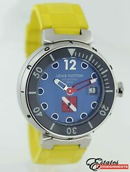 Louis Vuitton Tambour Q103f Stainless Steel Diving Automatic Men's Watch