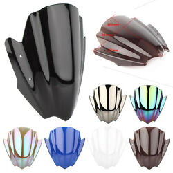 Front Windshield Screen For 7/8 1 Handlebar Mount Motorcycle
