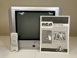 """Vintage Rca Truflat Crt 14"""" Tv 14f512t Television—retro Gaming—remote And Manual"""