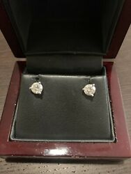 1.25 Carat Diamond Stud Earrings Pre Owned White Gold. Worn Only Few Times