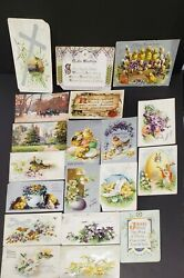 Lot Of 19 Antique Easter And Christmas Post Cards - All Raphael Tuck And Sons