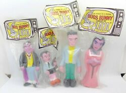 34223 Laya / Spain / Pouets X 4 Famille Addams Vintage Munsters Tv Show Monsters