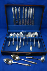 Wm Rogers Primrose Is- 62-pieces-forks Spoons Knives-iced Tea Spoon-serving Pcs