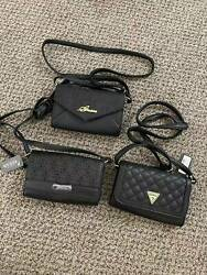 Guess Women Sandy Zahara Black Crossbody Wallet on a String Bag NEW WITH TAG $21.95