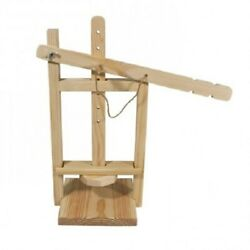 Big Wooden Cheese Press With Movable Arm For Home Use - Organic, Handmade