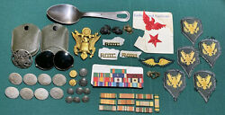 Vtg Wwii Us Military Patches Sunglasses Badges Buttons Uniform Accessories Lot