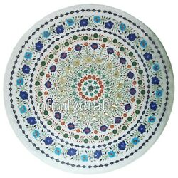 Marble Dining Table Top Inlay Semi Precious Stones Royal Look Kitchen Table 36