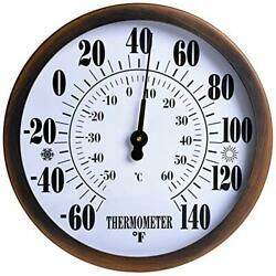12 Indoor Outdoor Thermometer Wireless - Garden Wall Thermometer For Bronze