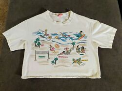 VTG 1988 women#x27;s beach and sand tropical crop tops Lot of 2 $21.99