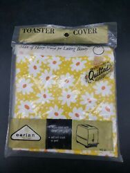 Nos Vintage Quilted Vinyl Appliance Cover Toaster/mixer Ect Mod Look Made In Usa