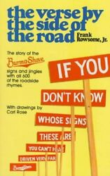 Verse By The Side Of The Road The Story Of The Burma-shave Sign... 9780452267626