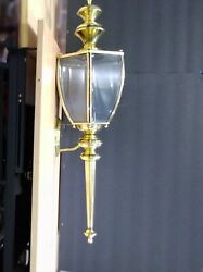 Antique All Brass Outdoor Sconce Lighting Fixture 1950s High Quality