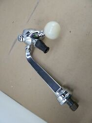 Vintage Heavy Chrome-plated Soda Fountain Tap Faucet W/agate Ball Handle