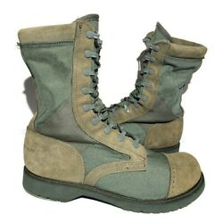 Corcoran Boots 87146 Full Force Marauder Green Jump Boots Size 11 Metal Plated