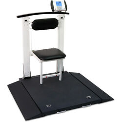 Detecto 6570 Portable Wheelchair Scale With Seat 1000 Lb X 0.2 Lb Bmi Rs232