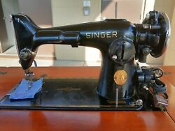 Beautiful 1940, 201-2 Singer Sewing Machine In Queen Ann Cabinet.tested, Working