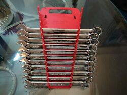 Armstrong 11pc Metric Wrench Set And Rack Holder 10mm-21mm Wrenches Usa Made