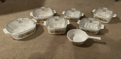 Vintage Corning Ware Spice Of Life 13 Piece Set Land039echalote Le Romarin 1970s-80and039s