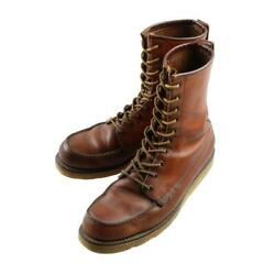 Redwing Irish Setter Work Boots Dog Tag Square Stitch Size 9b 70s Vintage Shoes