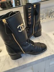 Combat Boots 36.5 Worn Once Rare