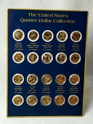 24 Kt. Gold-plated United States Quarter Dollar Collection - 20 Coin Set