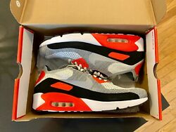 Nike Air Max 90 Ultra 2.0 Flyknit Infrared Sneakers Size 13 Style 875943100