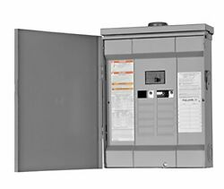Electric Homeline 100 Amp 12-space 24-circuit Outdoor Main Breaker Load Center
