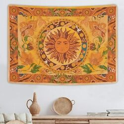 Burning Sun Tapestry Flower Vines Tapestry Vintage Floral Wall Hanging Tapestry