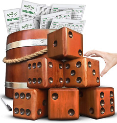 Swooc Games - Yardzee, Farkle And 20+ Games - Giant Yard Dice Set All Weather With