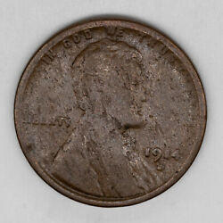 1914 D Lincoln Wheat Cent Penny 1c G Good / Vg Very Good 3560