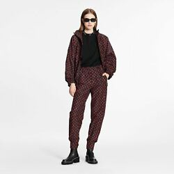 Louis Vuittom Red Monogram Jogging Pants In Technical Cotton 36fr