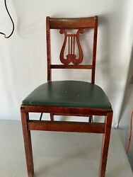 1950s Duncan Phyfe Harp Back Stakmore Aristorcrats Folding Furniture Game Chair
