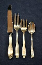 Stieff Puritan Sterling Set For 6 Total 24 Pcs. 6 By-4 Pc. Set Pieces No Monoand039s